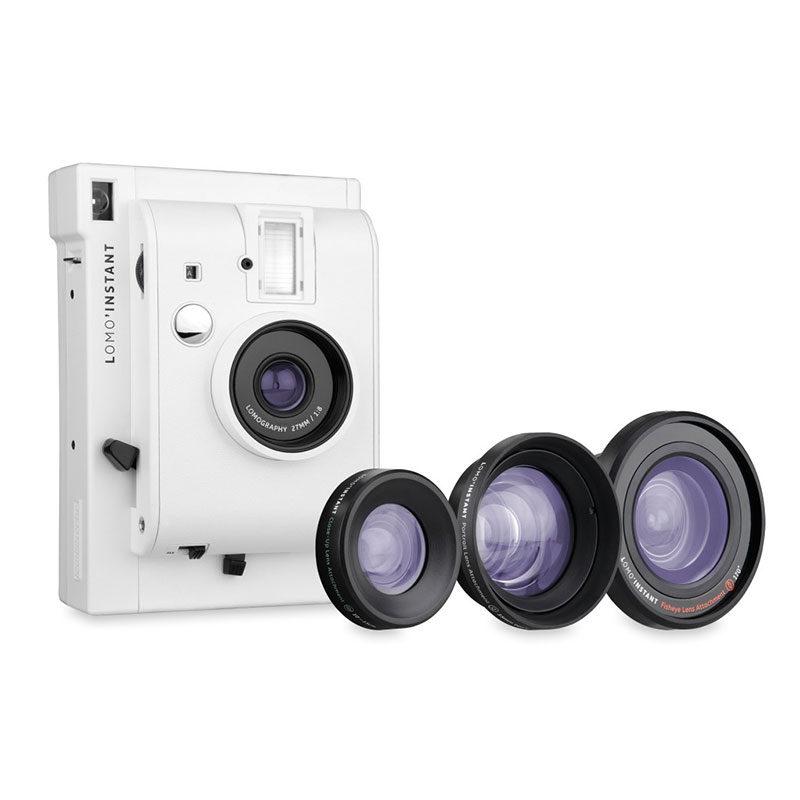 Lomography Lomo Instant Mini White + 3 Lenses