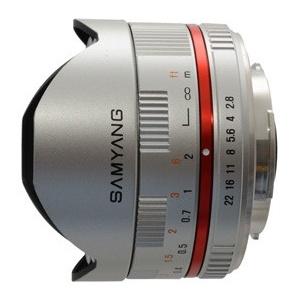 Samyang 8mm f/2.8 Fisheye Fujifilm, Zilver