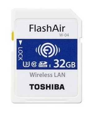 Toshiba SDHC 32GB FlashAir Card UHS-I U3
