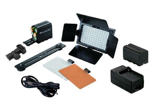 Falcon Eyes LED Lamp Set Dimbaar DV-160V-K2 incl. accu