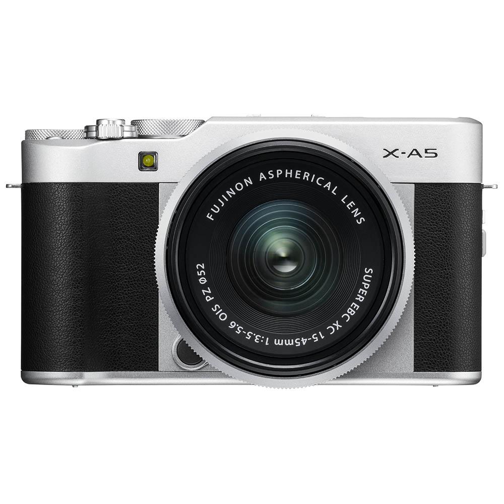 Fujifilm X-A5 zwart/zilver + XC 15-45mm F/3.5-5.6 OIS PZ zilver