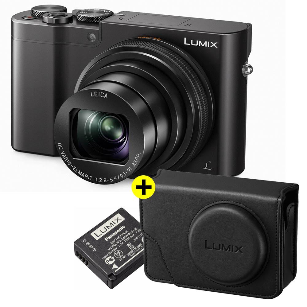Panasonic Lumix DMC-TZ100 zwart + Accessoireskit