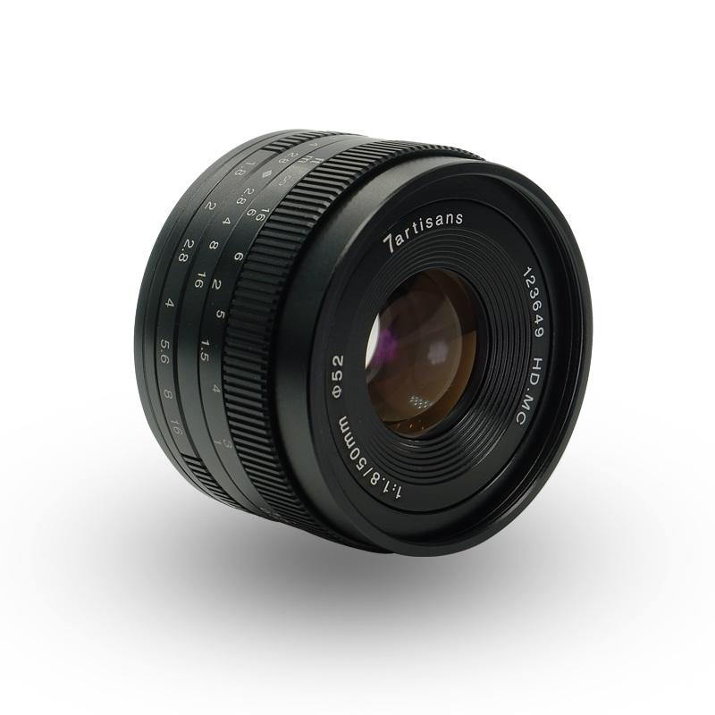 7artisans 50mm F/1.8 zwart voor Fuji X-mount