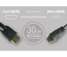 Atomos Coiled Mini HDMI to Full HDMI (30-45cm)