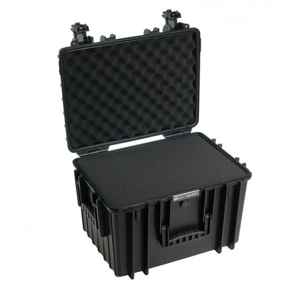 B&W outdoor.cases Type 5500 zwart + Plukschuim