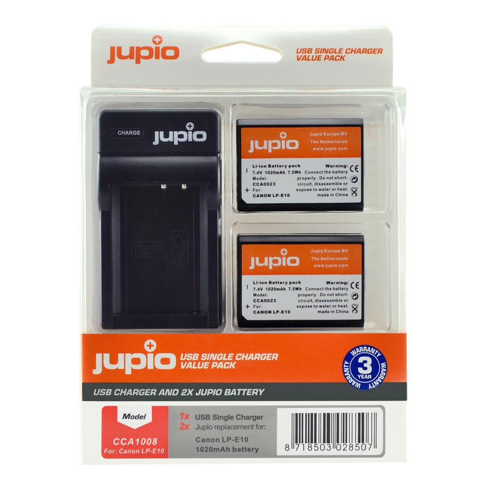 Jupio Kit met 2x Battery LP-E10 + USB Single Charger