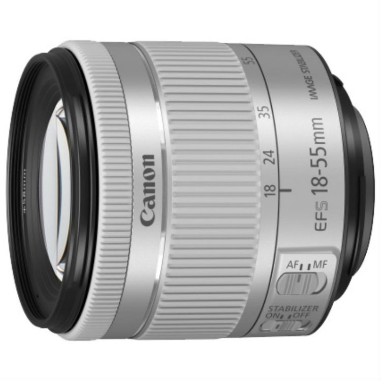 Canon EF-S 18-55mm F/4-5.6 iS STM COMPACT zilver