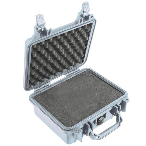 Peli 1200 zilver met plukschuim