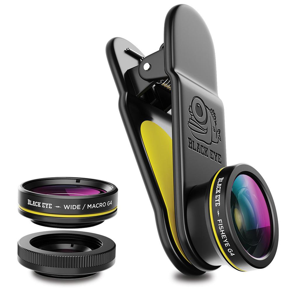 Black Eye 3-in-1 Set G4 met Wide Angle, Macro en Fish Eye Lens voor Smartphone