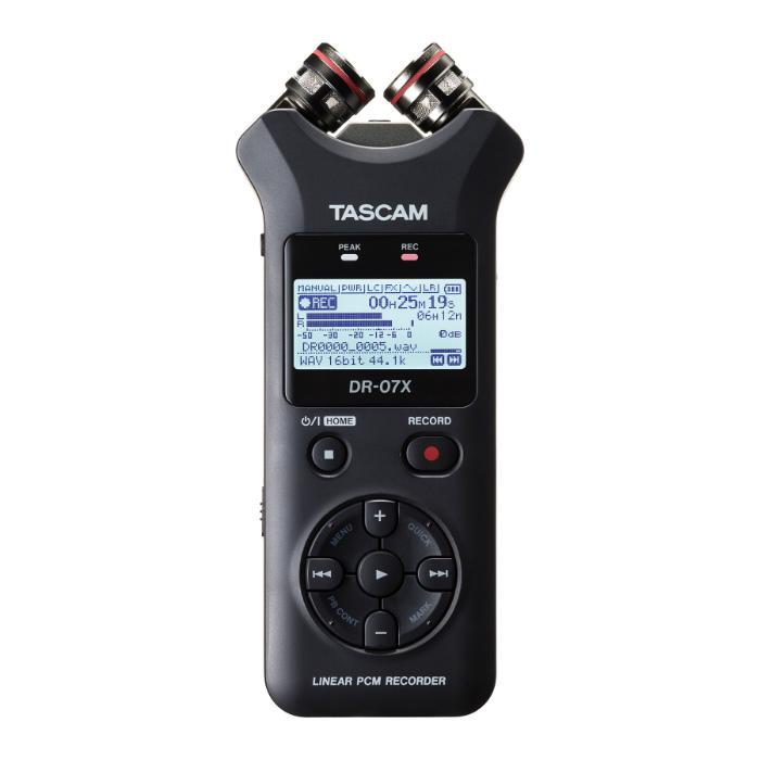 Tascam DR-07X portable audio recorder met USB