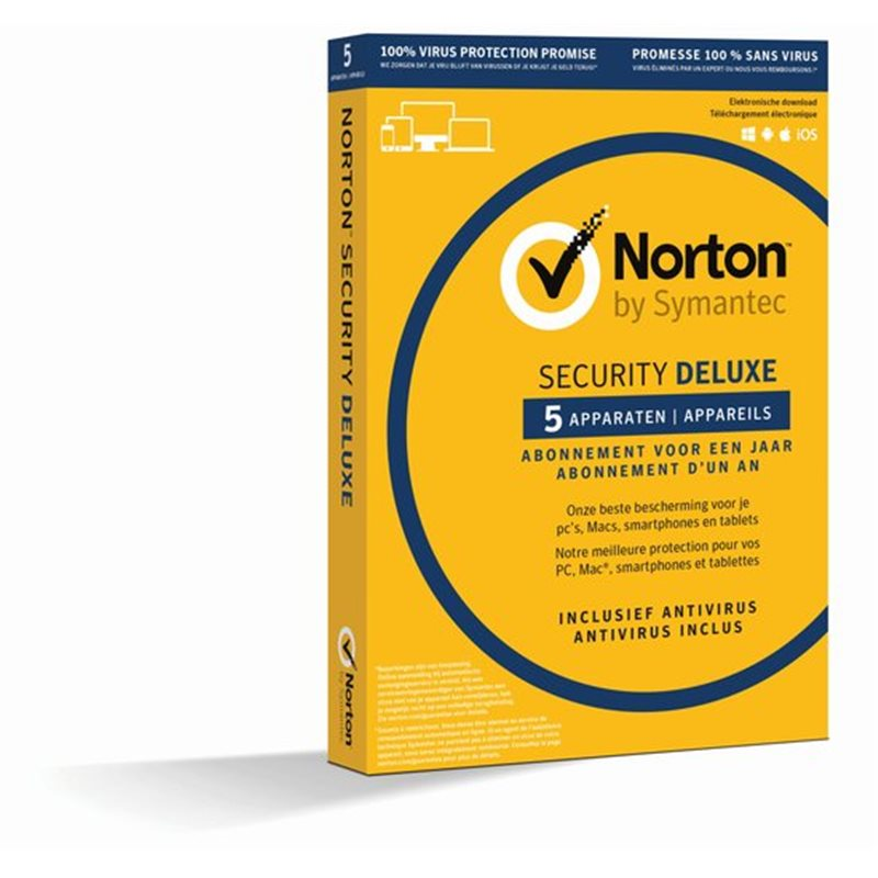 Norton Security Deluxe 3.0 (5 devices, 1 year) NL