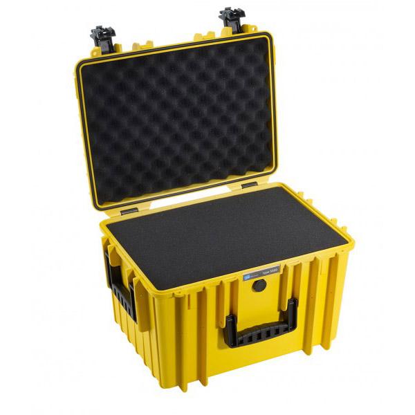 B&W outdoor cases Type 5500 geel + Plukschuim