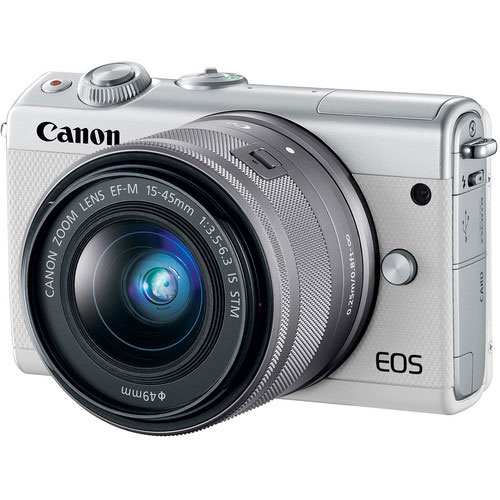 Canon EOS M100 + 15-45mm wit + CC-FJ001 Jacket Outlet