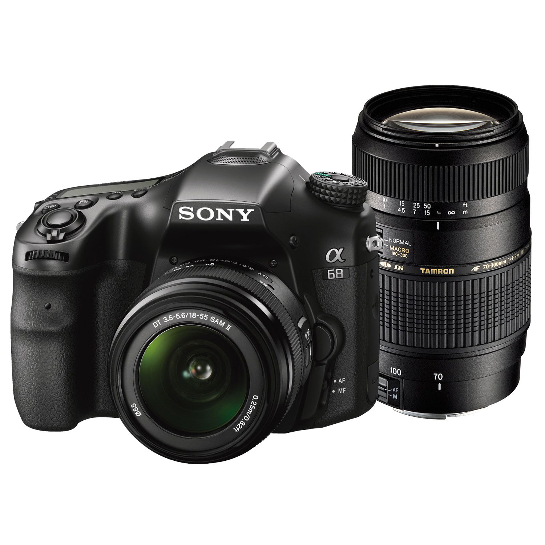 Sony SLT-A68 + 18-55mm SAM II + Tamron 70-300mm Di LD Macro