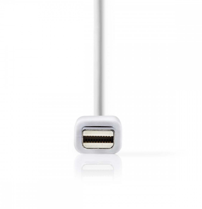 Nedis Mini-Displayport naar Displayport+HDMI+DVI-D female 0,2m wit