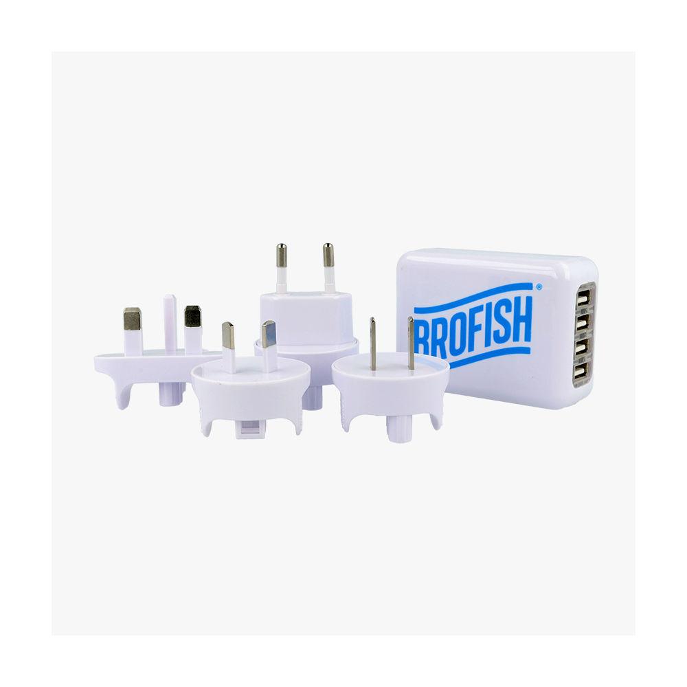 Brofish Usb Wallcharger 4 Port White