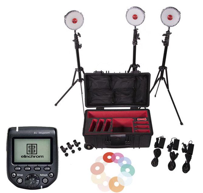 Rotolight NEO-2 3 light Kit + RL-HSS-TX transmitter Bundle for Nikon