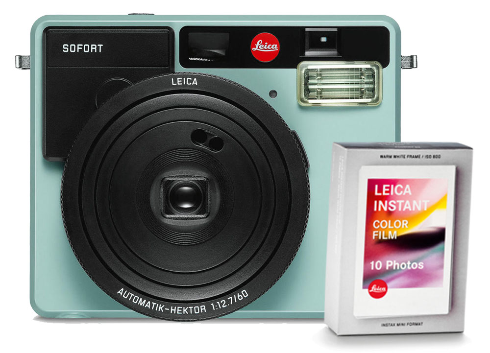 Leica SOFORT camera munt + Kleurenfilm 10x