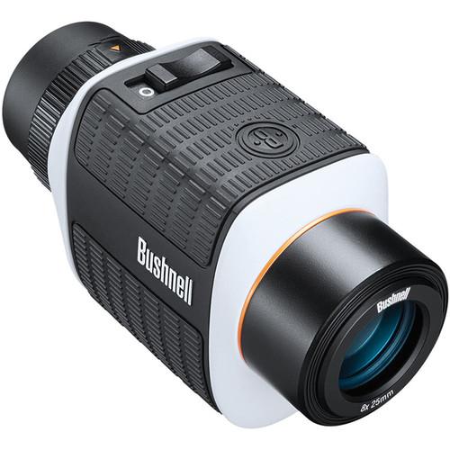 Bushnell 8x25 Monocular Black/White Roof Image Stabilization MC