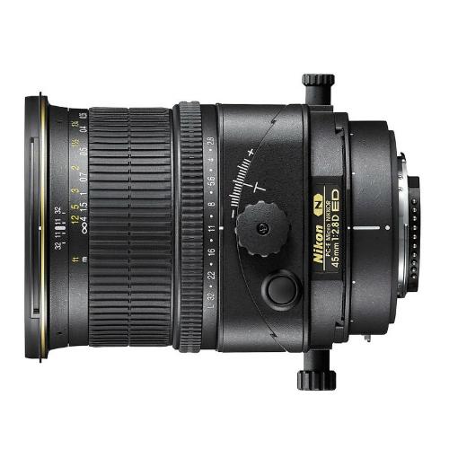 Nikon PC-E 45mm F/2.8D ED (incl. HB-43 en CL-1020)