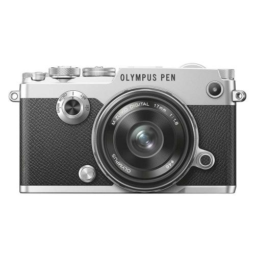 Olympus PEN-F Zilver + 17mm (Ex-Demo)