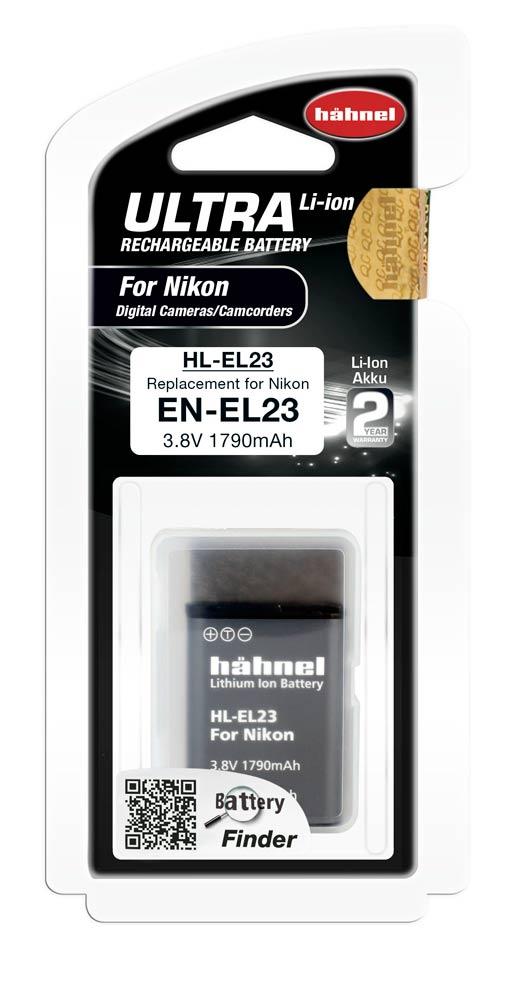 Hahnel HL-EL23 Ultra Li-Ion Accu voor Nikon