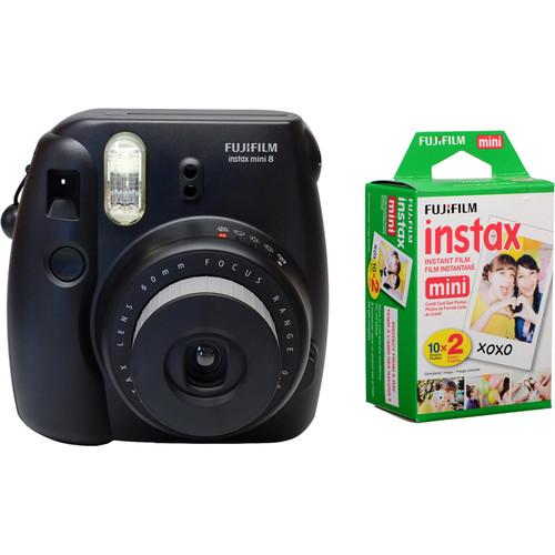 FujiFilm Instax Mini 8 zwart + colorfilm glossy 10x2 pak