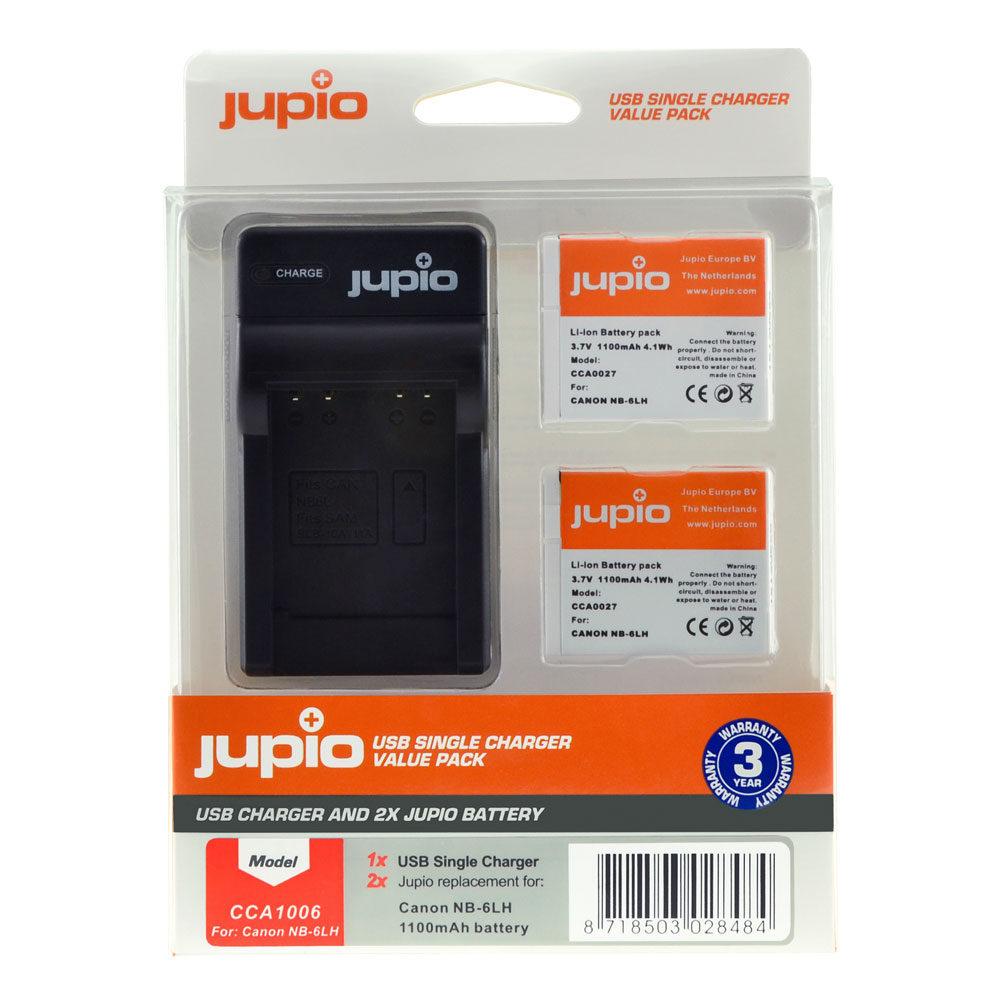 Jupio Kit met 2x Battery NB-11L + USB Single Charger