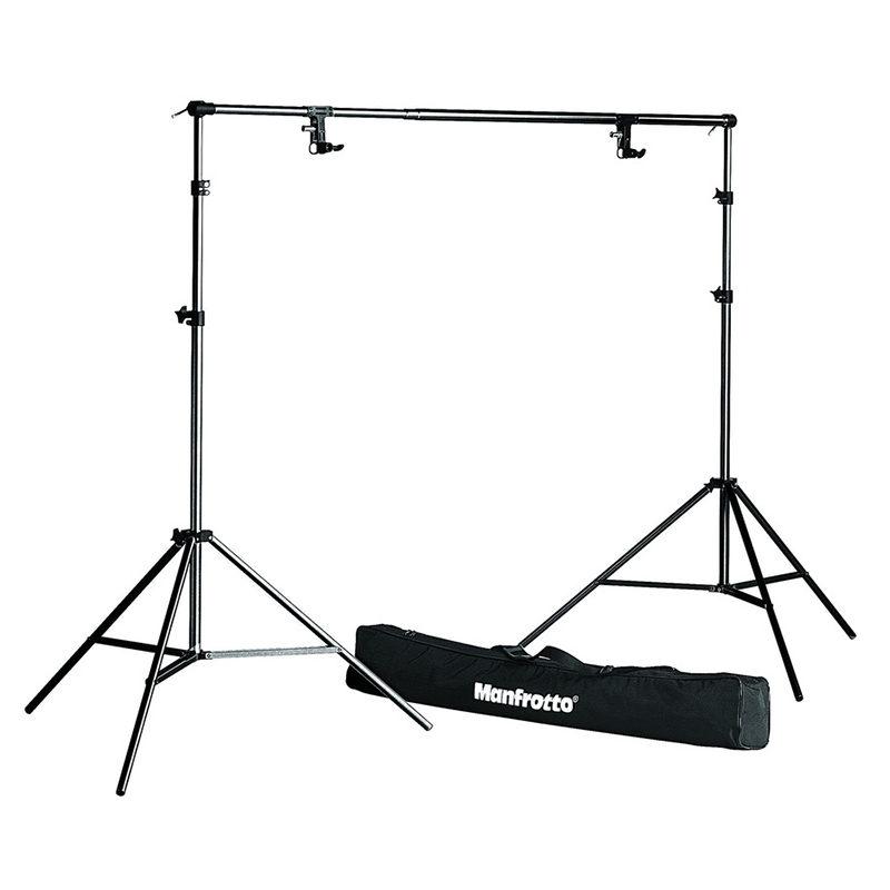 Manfrotto 1314B, Zwart BackGround Support Set + Bag
