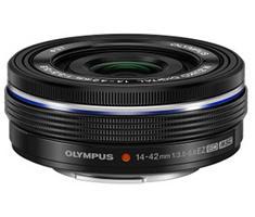 Olympus M.Zuiko Digital 14-42mm F/3.5-5.6 Pancake EZ zwart