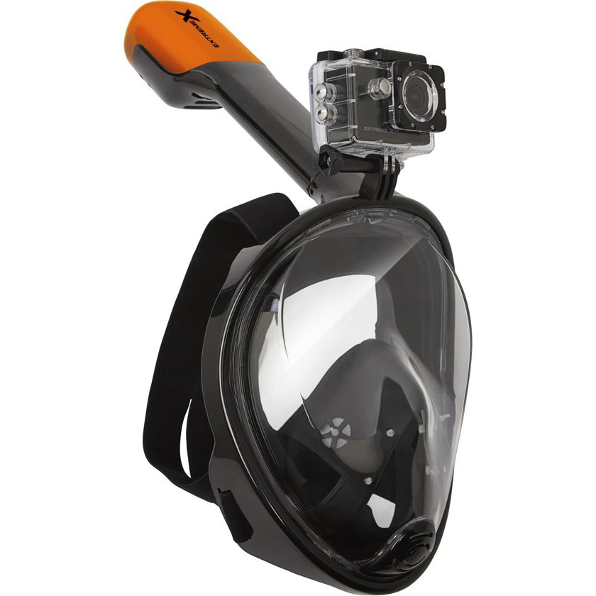 VIZU ExtremeX Full-Face Snorkeling Mask with Action Camera Mount (S/M)