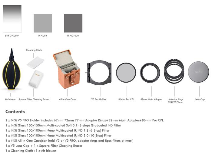 NiSi Starter Kit Type II voor 100mm Systeem