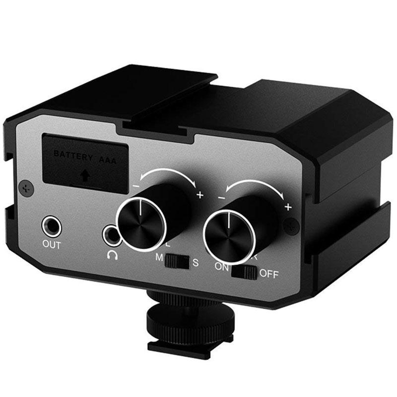 CoMica 3.5mm Dual-channels(2-Groups) Audio Mixer