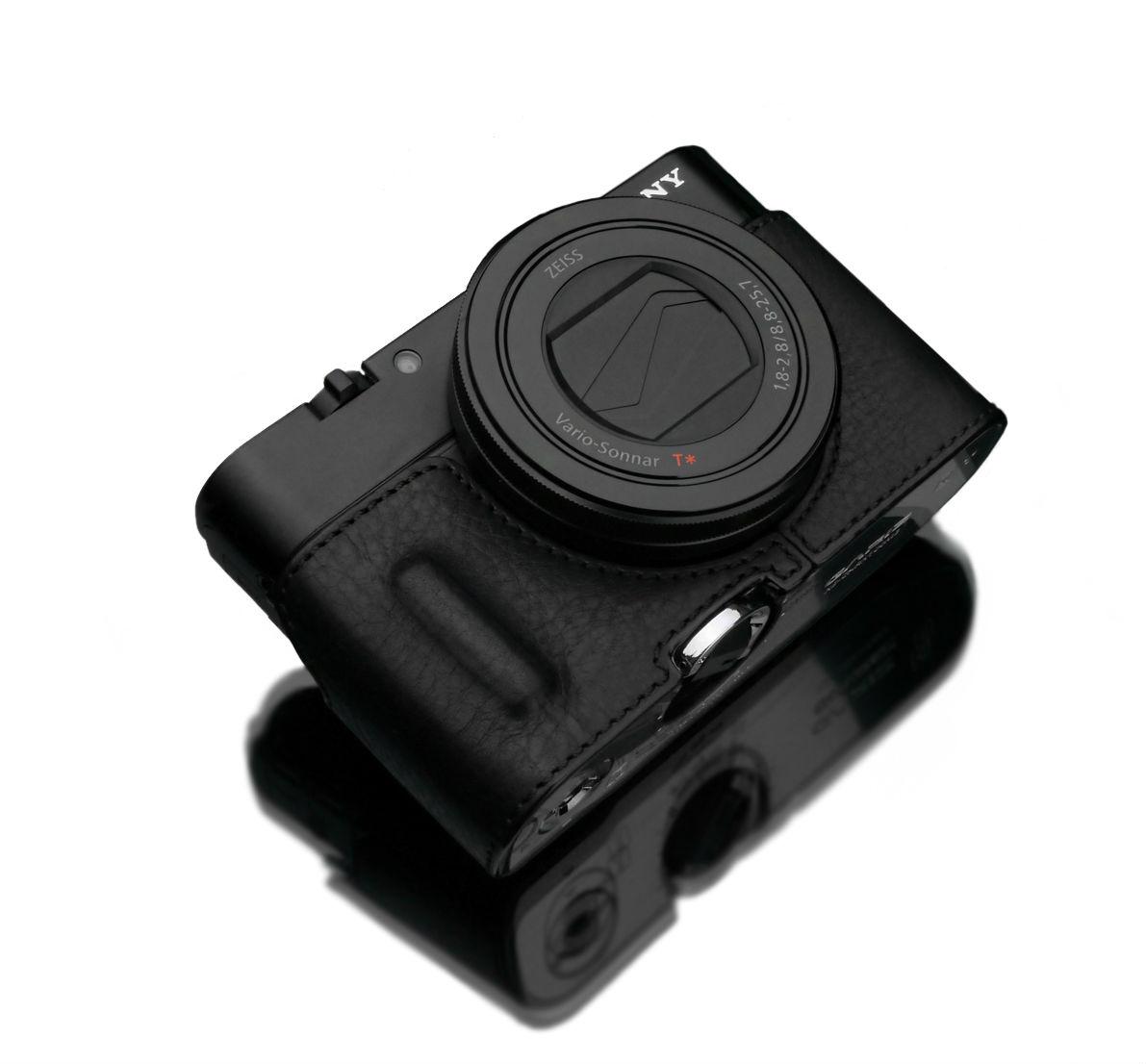Gariz HG-RX100M3BK Halfcase Black voor RX100III/IV Built In Grip