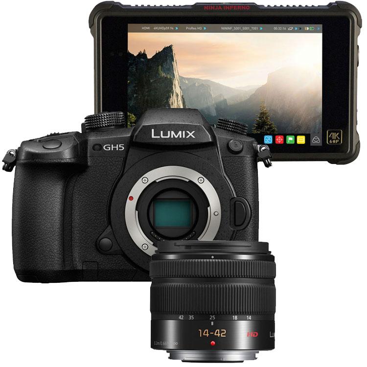 Panasonic Lumix DMC-GH5 + 14-42mm HD II + Atomos Ninja Inferno