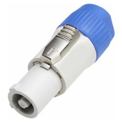 Neutrik Connector Power Plug Male PVC Grijs/Blauw