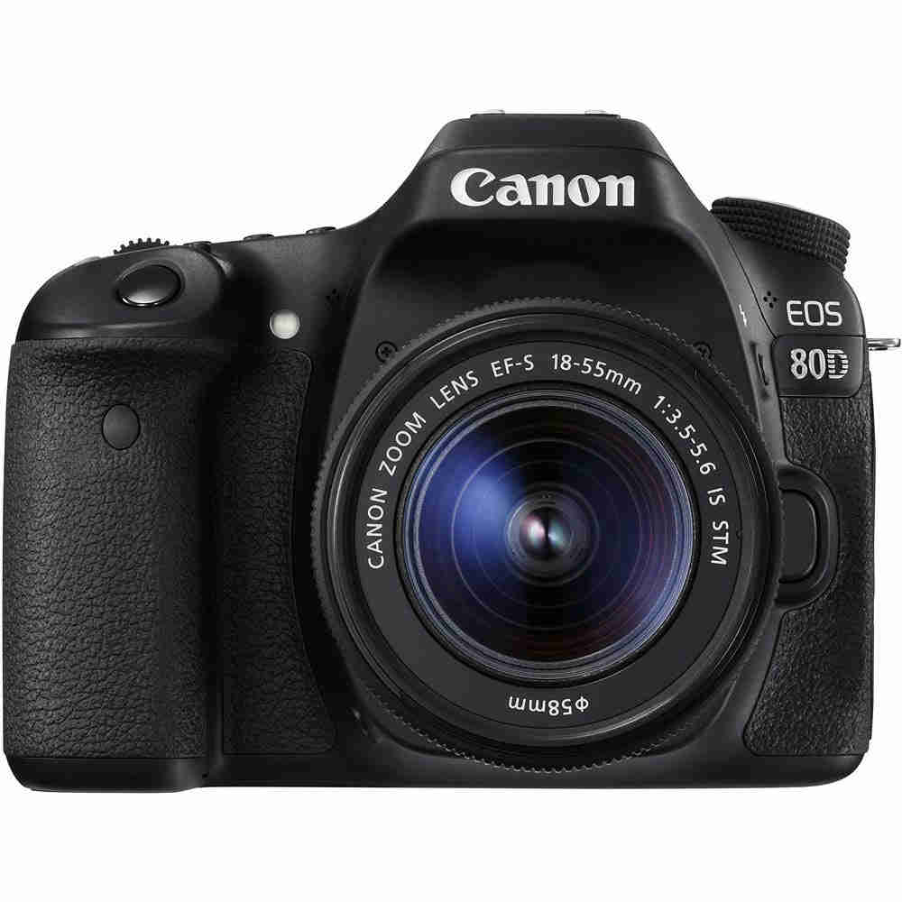 Canon EOS 80D DSLR + EF-S 18-55mm f/4.0-5.6 IS STM OUTLET