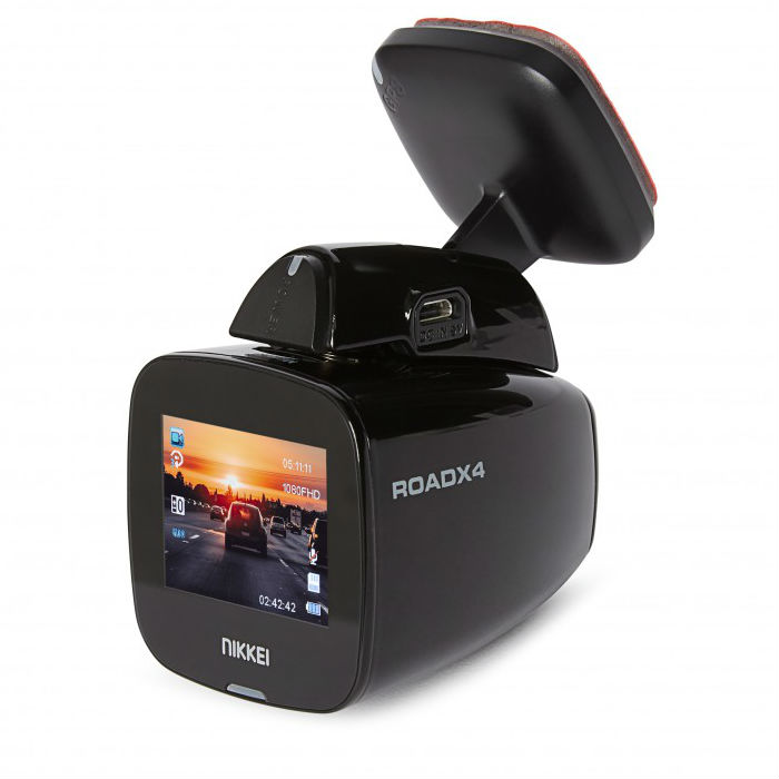 Nikkei RoadX4 Full-HD Dashcam Wi-Fi Dashcam incl. GPS
