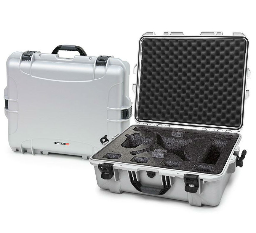 Nanuk 945 Case Silver with Foam Insert for DJI Phantom 4