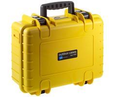 B&W outdoor.cases type 4000 geel + plukschuim