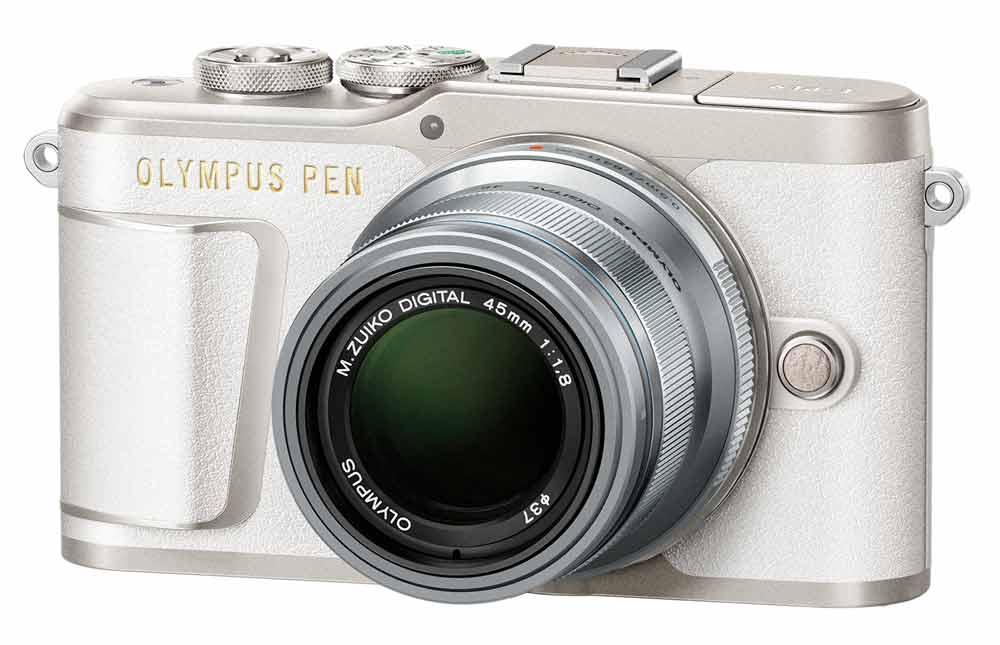 Olympus PEN E-PL9 wit + 45mm F/1.8 zilver