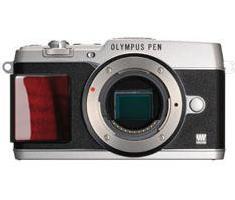 Olympus PEN E-P5 Limited Edition body zilver met houten grip **