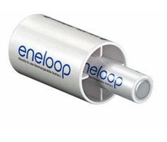 Panasonic Eneloop 2x adapter AA naar D