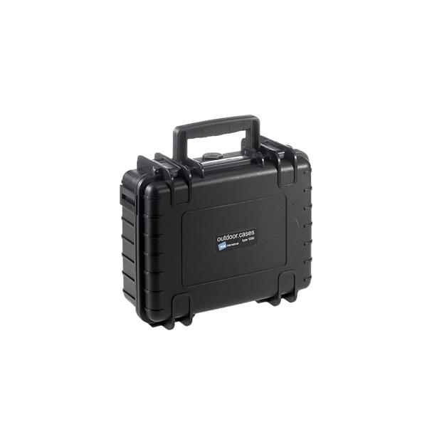 B&W outdoor.cases type 1000 zwart + DJI Spark inlay