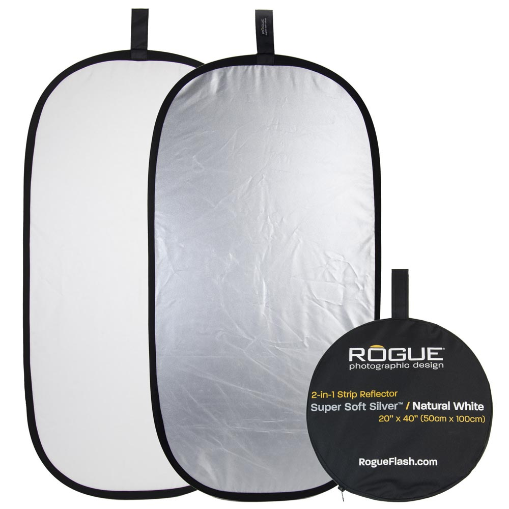 Rogue 2-in-1 Reflector Silver/White 50x100cm