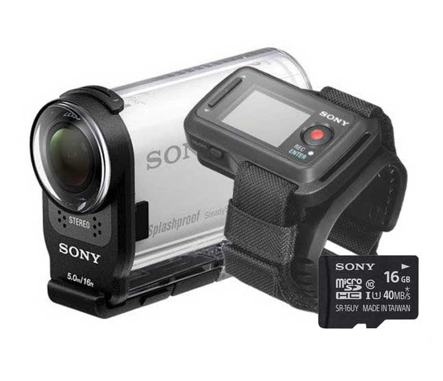 Sony HDR-AS200VR Remote Kit + 16GB Geheugenkaart