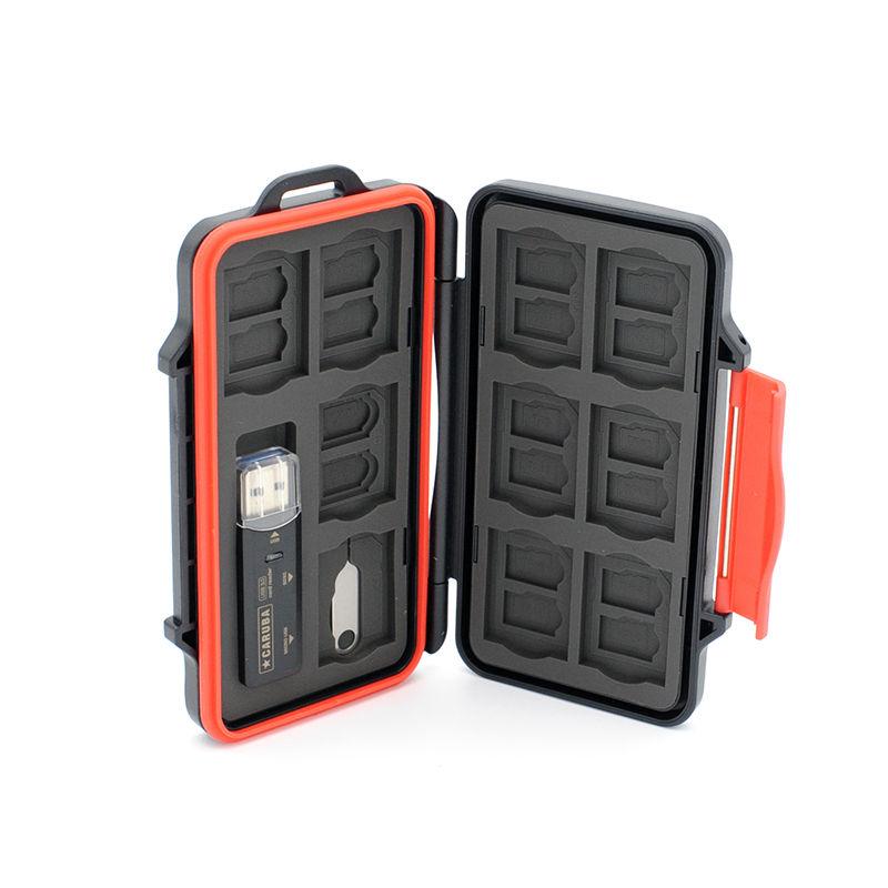 Caruba multi card case MCC-8 incl. USB 3.0 card reader