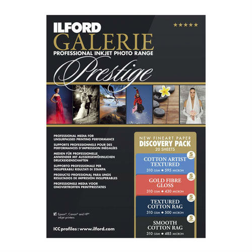 Ilford GALERIE Prestige Fine Art Discovery Pack A4 20 sheets