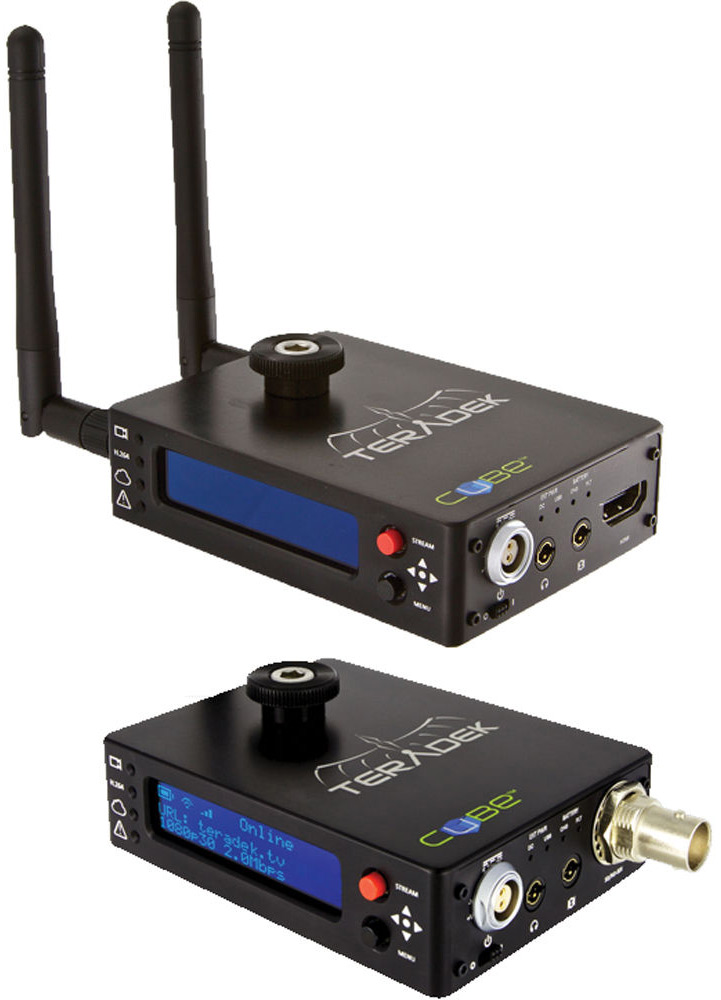 TERADEK CUBE-255/355 1ch HDMI Encoder/1 ch HD-SDI Decoder Pair, Built in 2.4G/5.8G WiFi, mic input, USB