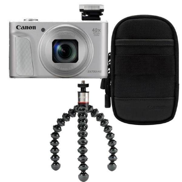 Canon Powershot SX730 zilver Travel Kit